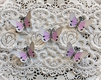 Reneabouquets Tiny Treasures Butterfly Set -  Sweet Dreams Premium Paper Butterflies In Lavender
