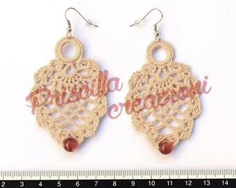 Handcrafted crocheted earrings