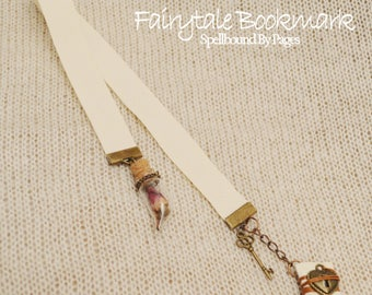Beauty and the Beast Bookmark, Fairytale Bookmark, Ribbon Bookmark