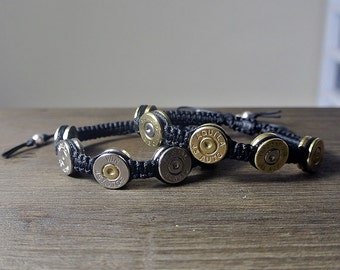 Silver Bullet Jewelry .45 Caliber Shell Casing Bracelet - Unique gift for Groomsmen Country Barn Wedding