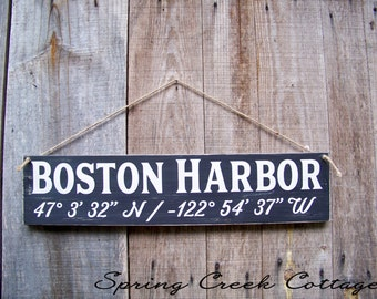 Coastal Signs, GPS Sign, Custom, Coordinates, Latitude, Longitude, Coastal Living, Coastal Chic, Handpainted, Beach, Wedding Gifts