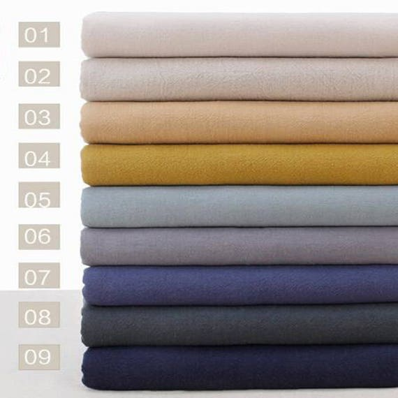 135 145 cm 53 57 inch width solid washed linen cotton fabric half yard from jwhouse on etsy. Black Bedroom Furniture Sets. Home Design Ideas