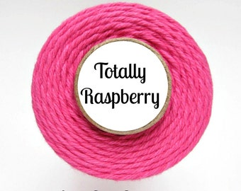 Solid Raspberry Pink Bakers Twine by Trendy Twine - Totally Raspberry - Valentine, Valentine's Day