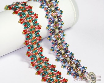 PDF Tutorial - Rinna Bracelet Beading Pattern Instant download Beadweaving Instruction
