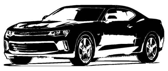 Chevy SVG File 2018 Chevrolet Camaro ZL1 Clipart Vector