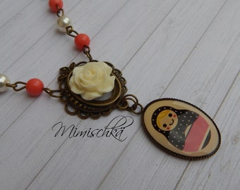 necklace russian doll