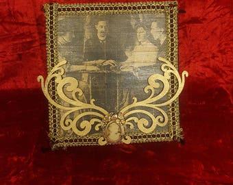 Vintage Victorian Seance Gothic Ouija Jewelry Box