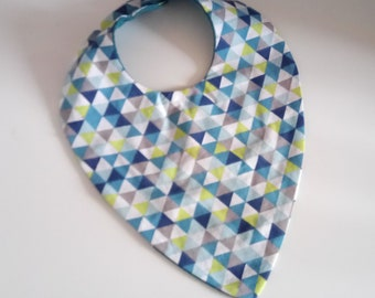 Triangle colorful baby bib