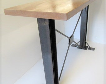 Bar Height Industrial Table, Black Table, Standing Office Desk, Rustic Bar  Height Table
