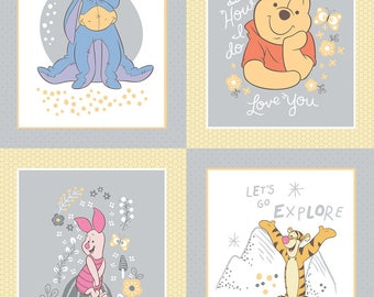 Winnie the Pooh cotton panel by Camelot fabric 85430108