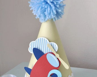Boy's Little Airplane Birthday hat, special occasion, photo prop