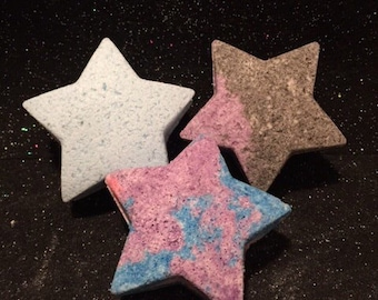 Star bath bombs, star bath fizzies, star shaped bath bombs, stars, cool bath bombs, bath bomb set, bath bomb gift set, gifts for her, soap