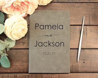 Wedding Guest Book, Personalized Guest Book, Guest Book, Custom Guest Book, Guest Books, Pamela And Jackson, Journal, Wedding Gift, JRN1