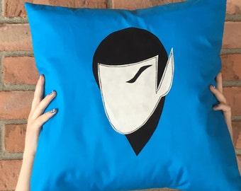 Spock, Star Wars inspired decorative pillow, silhouette art, silhouette design, silhouette vintage, pillow cover, pillow insert, pillow sham