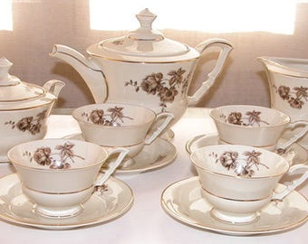 German tea set signed and numbered