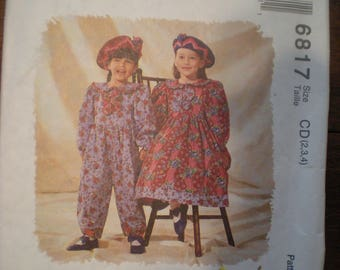 Vintage McCall's Mousefeathers Jumpsuit and Dress Pattern 6817 FF