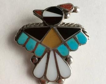 Vintage Native American Thunderbird brooch
