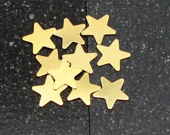 12mm Brass 5-Point Star 24 Gauge  Pack of 10