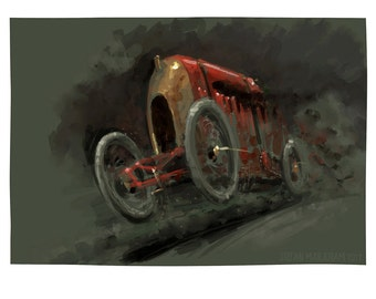 Fiat S76 'The Beast of Turin' - Limited Edition Art Print