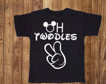 Oh Twodles Second Birthday Shirt Mickey Mouse Disney World