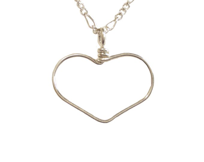 Heart Wire Charm Necklace