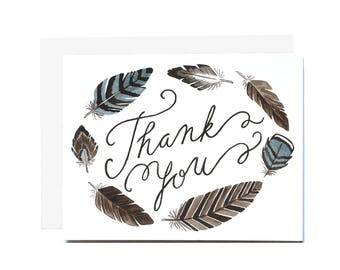 Feather Thank You Card