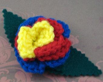 Crocheted Rose Bar Pin - Hero (SWG-PS-HEFC01)