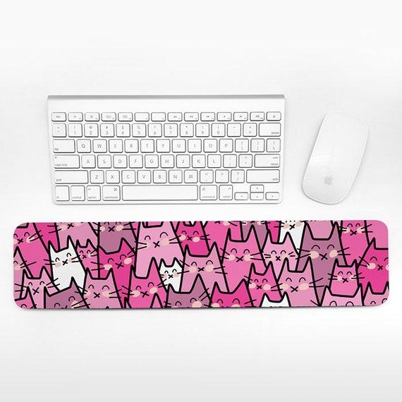 Cat Keyboard Wrist Rest Pad, Cute Wrist Keyboard Pad, Cats Wrist Pad for Keyboard Rest, Pink Desk Decor Office Desk Accessories for Women