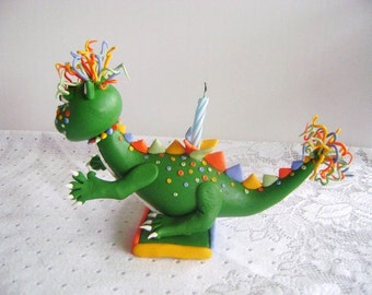 Dinosaur Cake Topper Kids Birthday Cake Design Children Birthday Party Rainbow Dinosaur Made to order