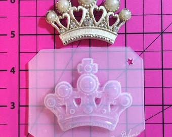 ON SALE Royal pearled crown flexible plastic resin mold