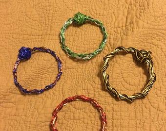 """Harry Potter House Themed Wire Bangle Bracelets (9"""")"""