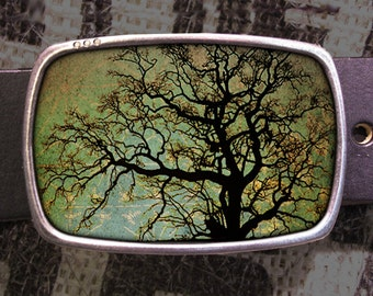 Tree Portrait Belt Buckle, Vintage Inspired- 600, Gift for Him, Gift for Her, Husband  Gift, Wife  Gift Groomsmen Wedding