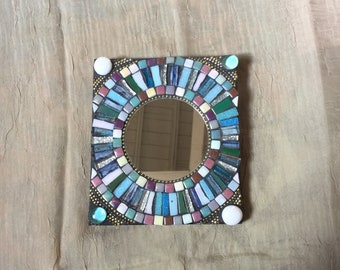 Mosaic Mirror, Accent Mirror, Multicolored, Wall Art, Home Decor, Wall Hanging