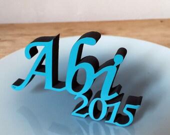 Abi 2015 - 3D wood lettering
