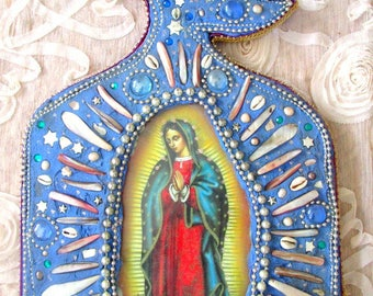 May You Know Infinite Love-Guadalupe Altar mosaic icon sacred art shrine Altar wall art home decor