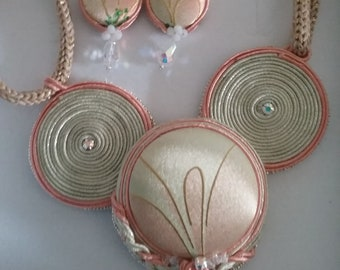 soutache necklace and earrings jewelles