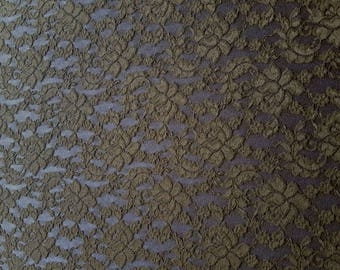 Stretch Lace Dressmaking Fabric in Black - UK seller
