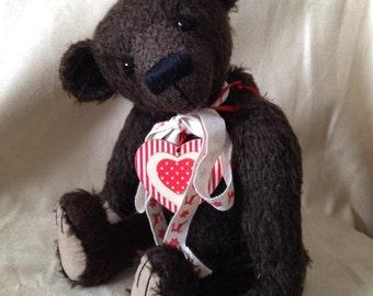 Conner, Ooak mohair artist bear bearflair Alaine Ferreira, Bearflair, Christmas Sale!