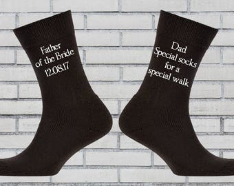 Father of the bride socks, Special socks for a special walk, Dad gift, Father of the bride gift, Personalised socks, Wedding socks