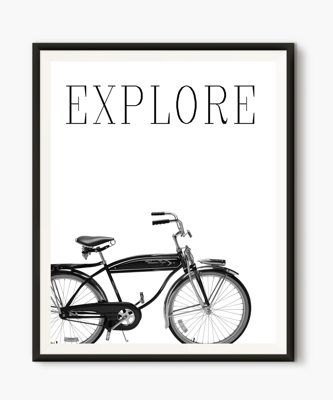 Bicycle Poster Cycling Art Bicycle Art Modern Print