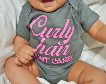 Custom Onesie Curly Hair Dont Care Body Suit