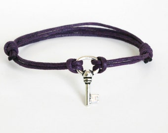 Key Bracelet, Key Anklet (many color to choose)