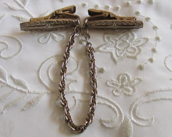Vintage Sweater Guard with Flat Beaded and Curled Clips