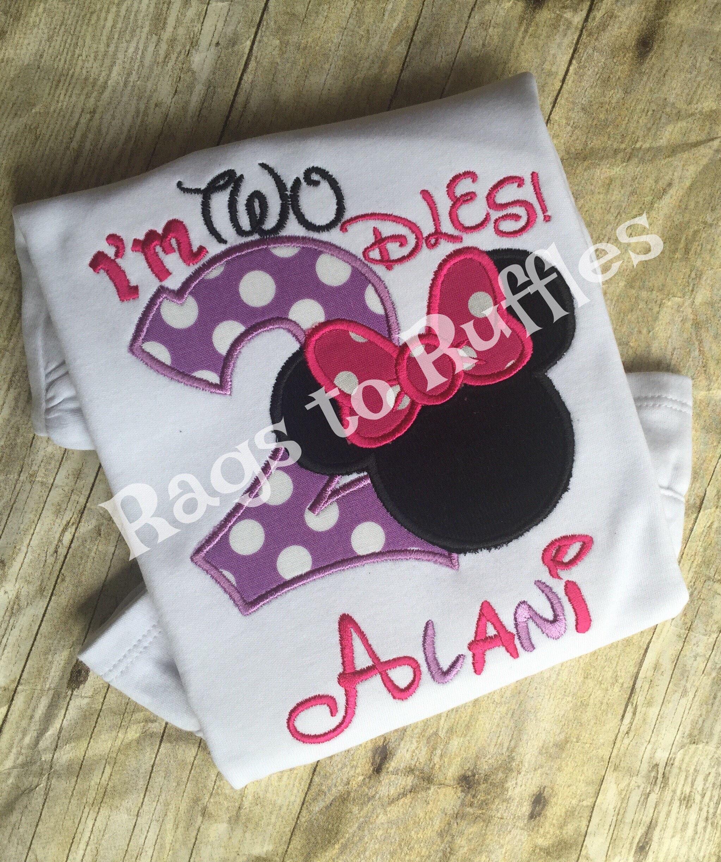Customized Minnie Mouse Birthday Shirts