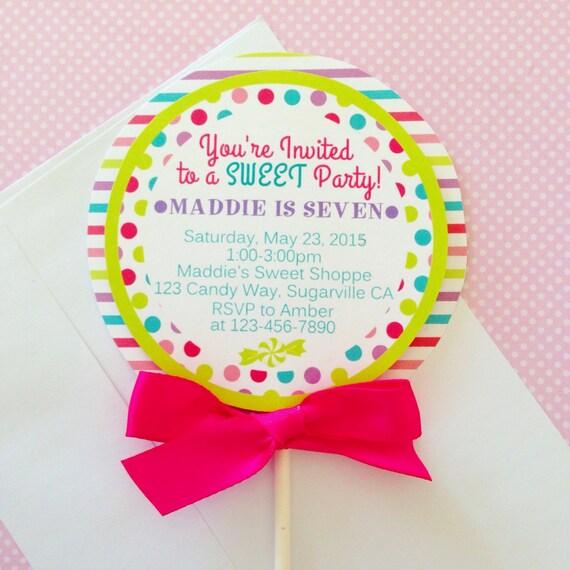 12 lollipop invitations custom printed lollipop invites filmwisefo