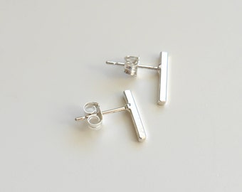 Bar Studs | Earrings | Sterling Silver Earrings | Rockhaus