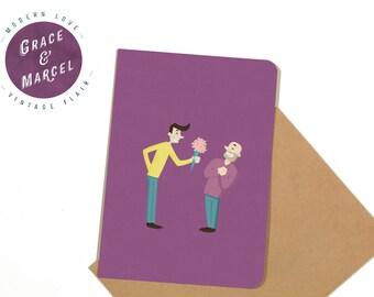 GLBTIQ | Gay | Lesbian | Greeting Card: 'Flower Power'