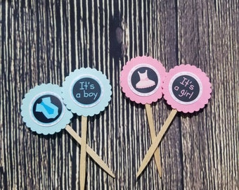 Baby shower cupcake topper set of 12