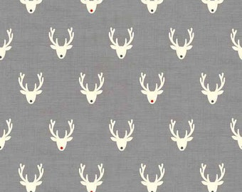SCANDI fabric cotton patchwork SCANDI 3 Stags neads x1m