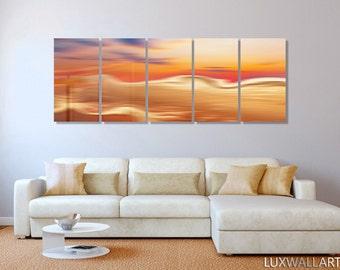 Sunset Desert Large Abstract Metal Wall Art Decor